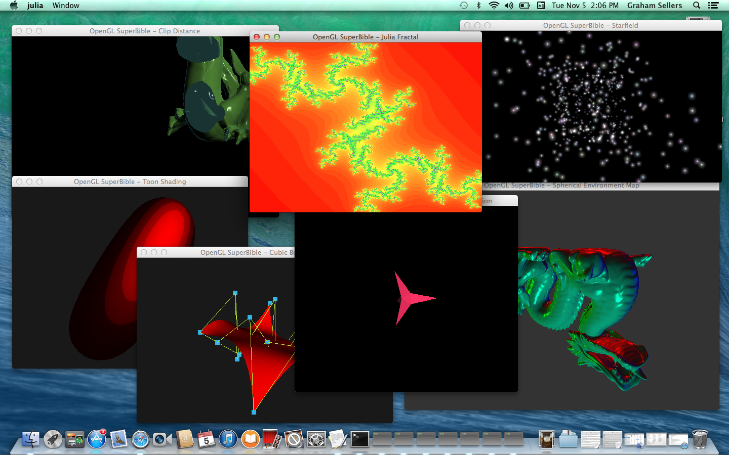 OpenGL SuperBible Samples Running on Mac OS X 10.9